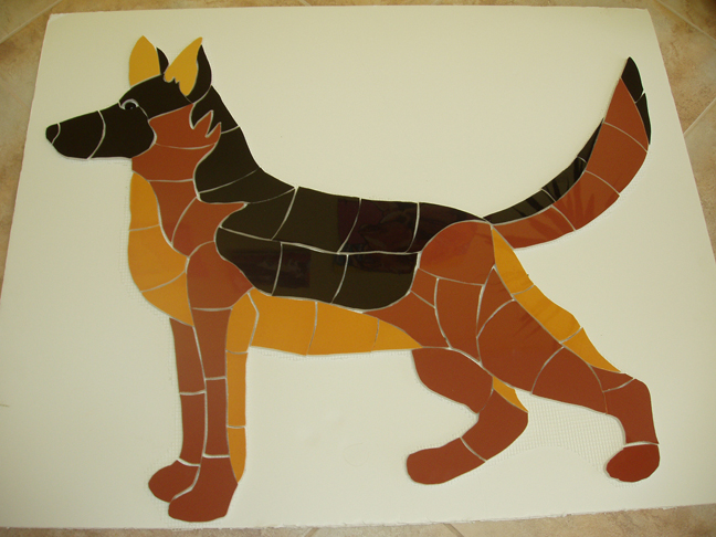 German Shepard Mosaic